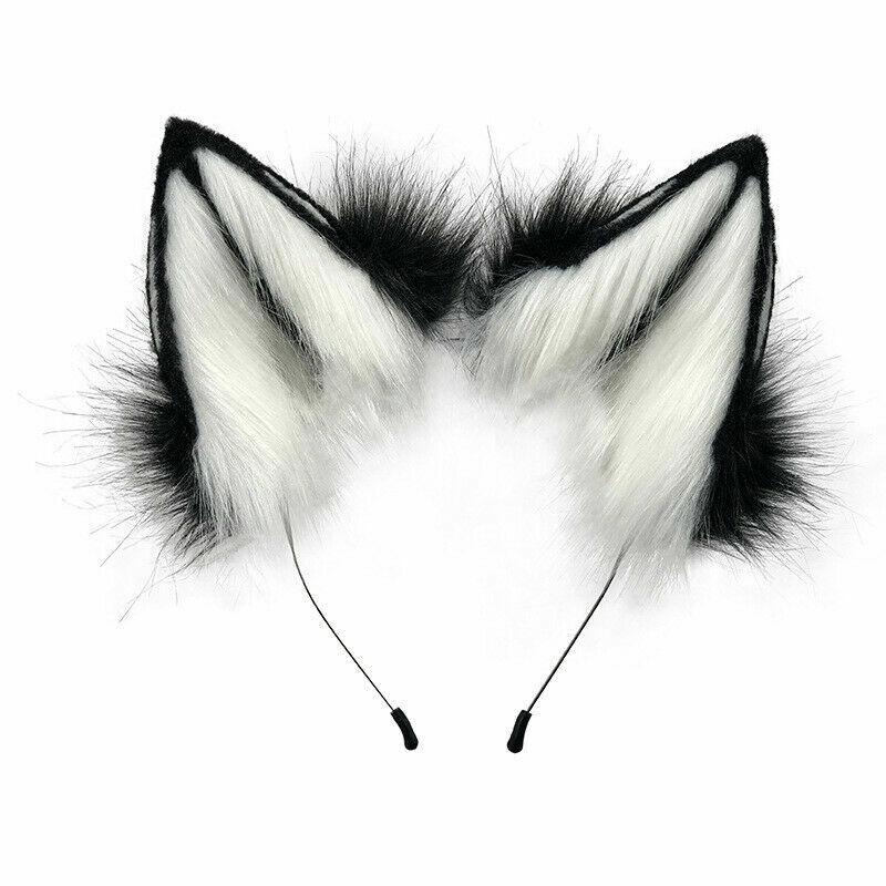 Sexy Womens Fox Ears Hand-Made Animal Ears Headdress Cosplay Headband Hairpin