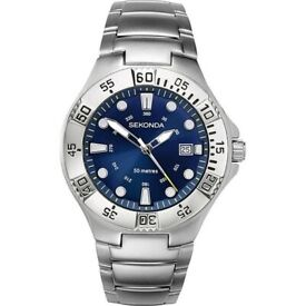 Sekonda Men's Analogue Blue Dial Bracelet Watch GENUINE NEW