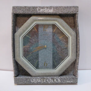 SEE -THROUGH QUARTZ WALL CLOCK - IN BOX - NEVER USED - MINT