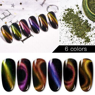 MTSSII Cat Eye Nail Powder Magnetic UV Gel Glitter Dust Nail Art Decor Manicure