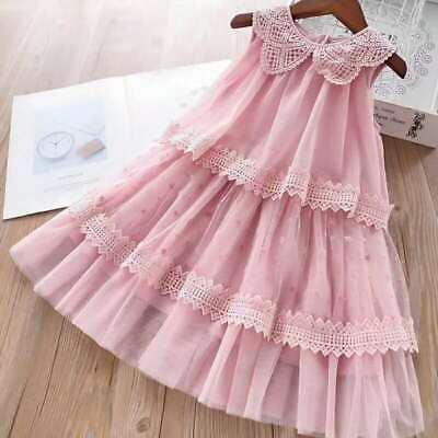Kinder Mädchen Prinzessin - Kleid, rosa, festlich, Hochzeit, Spitzen, Frühling ()