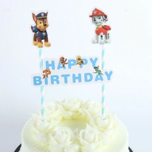 Paw patrol Birthday Cake Topper Decoration Party Supplies.