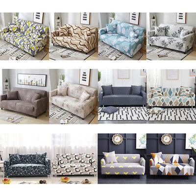- 1-4 Seaters Sofa Cover Removable Stretch Fabric Sectional Corner Slipcover Decor