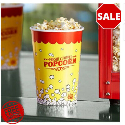 500-pack 46 Oz. Round Paper Movie Theatre Concession Popcorn Cups Party Home