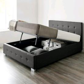 Super King (180 x 200 cm) black Ottoman lift up storage bed