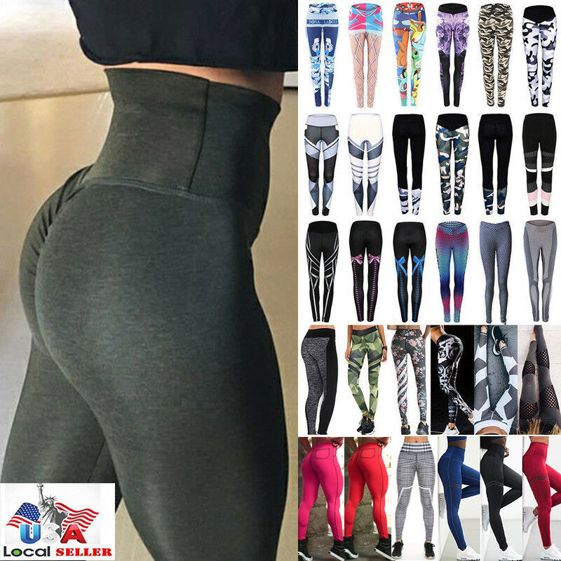Sport Women Scrunchbutt Fitness Leggings Run Yoga Gym Booty Lifter Pants US M842