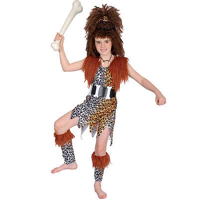 Cave Family #Flintstones Costume Adult/Child Stone Age Fancy Dress All - Flintstone Family Costume