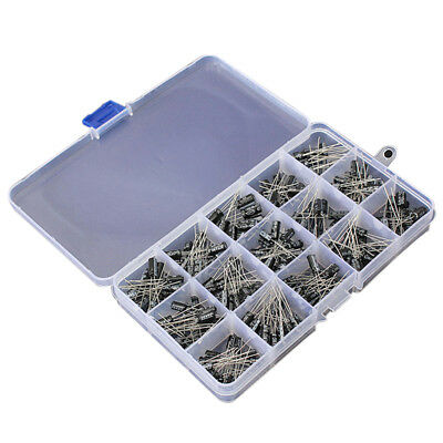 200pcs Durable Diy 15kind 0.1uf-220uf Electrolytic Capacitor Assortment Kit C2dt
