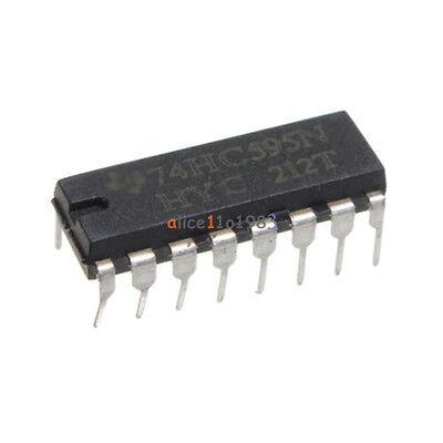 10pcs 2.0 6.0 V Top Sn74hc595n 74hc595 8-bit Shift Register Dip-16 Ic