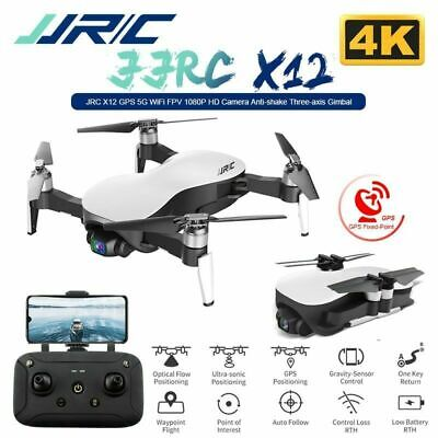 JJRC X12 3 Axis Gimble GPS Drone with WiFi FPV 4K HD Camera Foldable Quadcopter