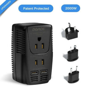 [NEUF] 2000w Travel Power Converter and Adapter 2 USB Ports