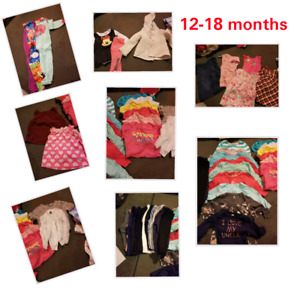 40 piece   12-18 month baby girl lot