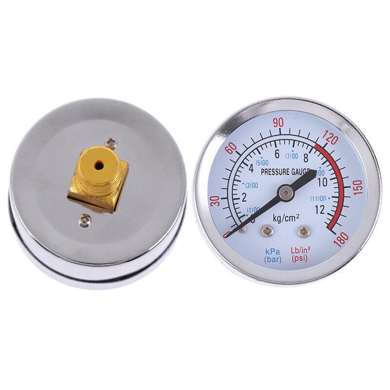 Iron bar air pressure gauge 13mm 1/4 bsp thread 0-180 psi 0-12 manometer RAS