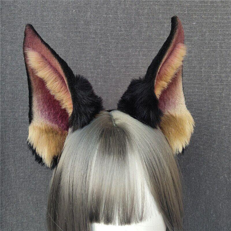 Dobermann Dog Shiba Ears Hairhoop Headwear for Cosplay Halloween Accessories