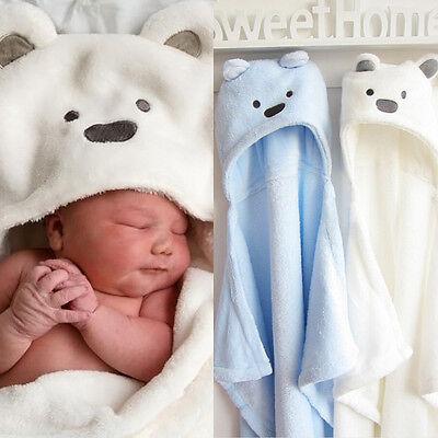 Cute Animal Cartoon Baby Kid's Hooded Bathrobe Toddler Boy Girls Bath Towel