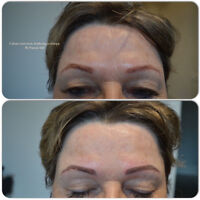 Permanent Makeup___3D Cosmetic Tattoo Eyebrows___ Real Pictures