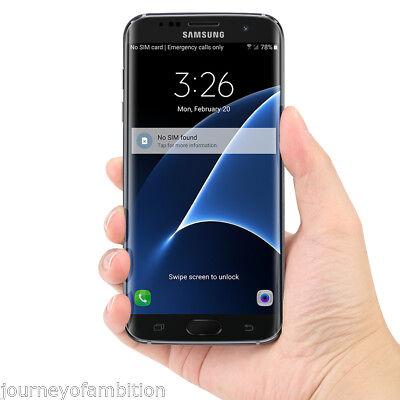 Samsung Galaxy S7 EDGE SM-G935A -Unlocked 4+32GB- 4G SIM FREE Smartphone BLACK