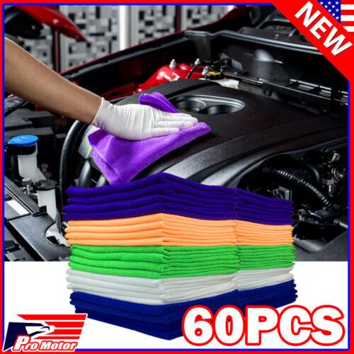 60 Pack Bulk Microfiber Cleaning Cloth No Scratch Rag Polishing Detailing Towel