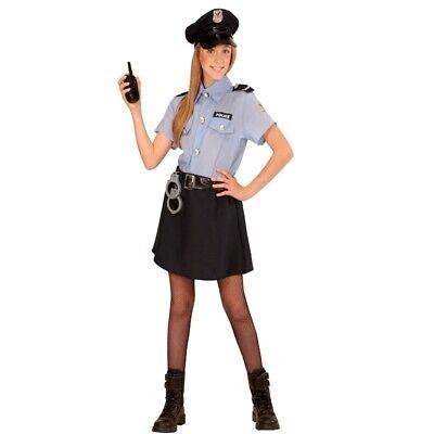 POLIZEI MÄDCHEN Police Girl Kinder Kostüm - Größe 140 - Polizistin Cop # - Cop Kind Kostüm Mädchen
