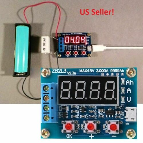 Lithium Ion 18650 Battery Capacity Tester Kit With Battery Holder