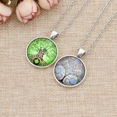 Celtic Jewel - Celtic Tree of Life Charm Gem Cabochon Pendant Necklace for Women Men Fashion