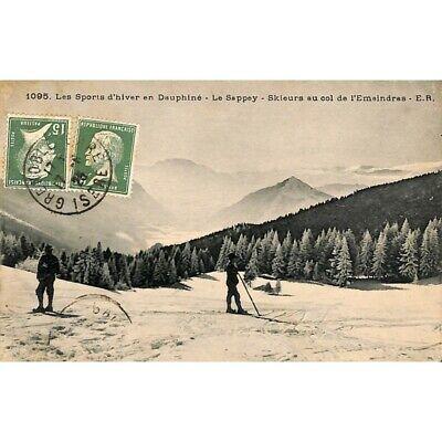 [38] Le Sappey-en-Chartreuse - Skieurs au col de l'Emeindras.