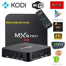 ANDROID SMART TV BOXES S805,S905 PRO, KODI 16.1 4K MXQ,T95M PRO free movies,sports