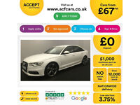 White AUDI A6 SALOON 2.0 3.0 TDI Diesel SPORT S LINE FROM £67 PER WEEK!