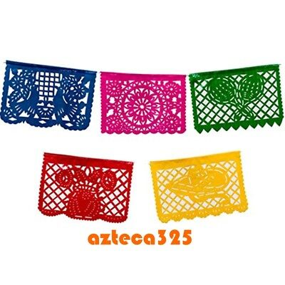 Mexican Fiesta Multi-Color Party Flags Banner