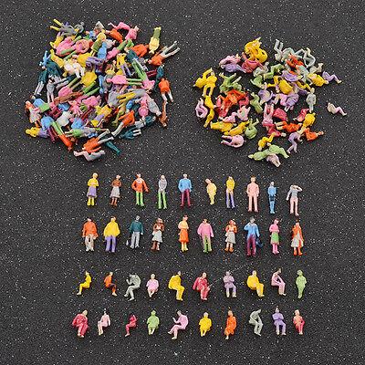100 Pcs Painted Mini People Figures 1 100 Scale Painted Train Passenger Model