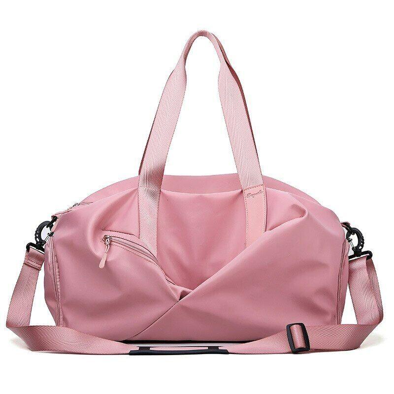 Large Capacity Ladies Travel Bag Solid Color Handbags Shoulder Bags