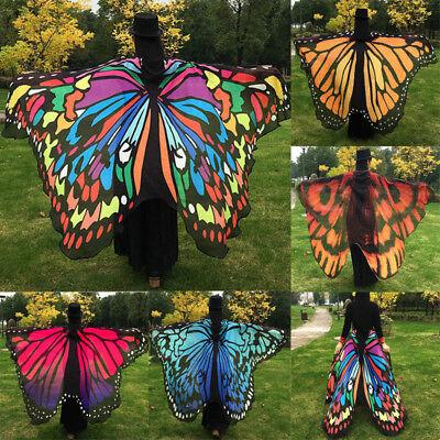 Butterfly Wings Costume Cape Adult Women Teen Girls Halloween Fancy Dress](Teen Halloween Costumes Teenage Girls)