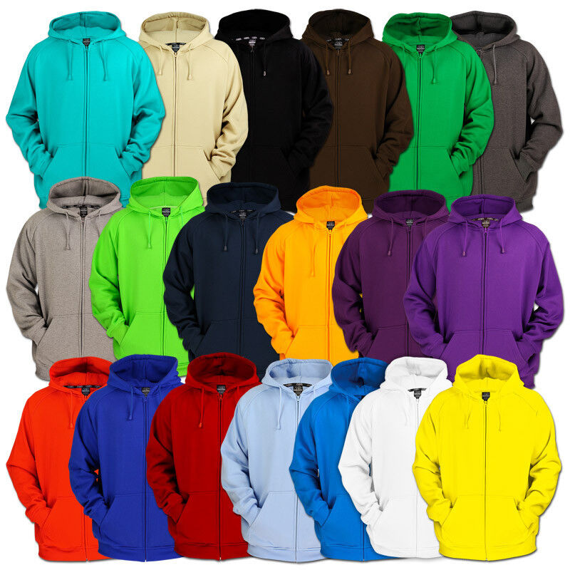 Details about Urban classics Blank Zip Hoody Jacket 19 Colors 5XL