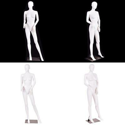 5.8 Ft Female Mannequin Manikin With Metal Stand Plastic Full Body Mannequin Whi