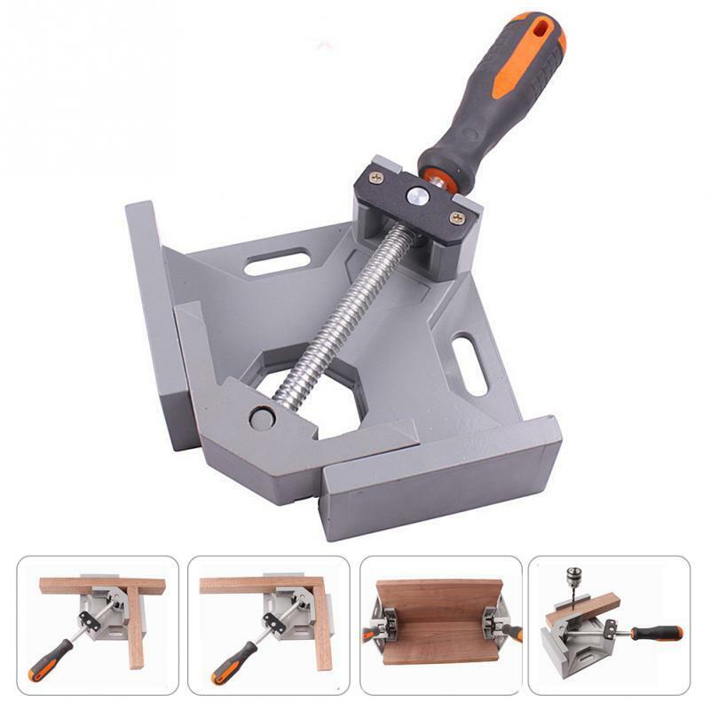 Single Handle 90° Aluminium Right Angle Clamp Photo Frame Corner Clip Clamps & Vises