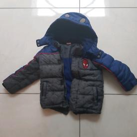 Boys spiderman winter coat 4 to 5 years