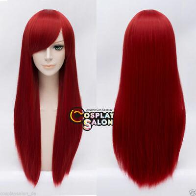Anime Wig 70cm Rote Cosplay Perücke Basic Ladieshair Halloween Haar Mode ()