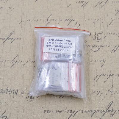 170 Kinds Value 0805 Smd Resistor Kit 0r10mr 18w 5 8500pcs Free Shipping