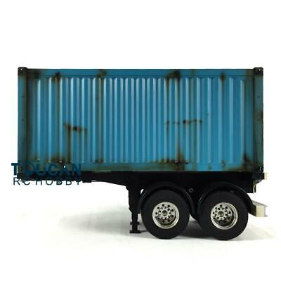 Used, 1/14 Hercules RC 20ft Chassis Container Semi Trailer DIY TAMIYA Tractor Truck for sale  China