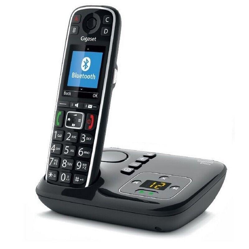 Gigaset E720A DECT Telefon Anrufbeantworter Schwarz Neu Original verschlossen
