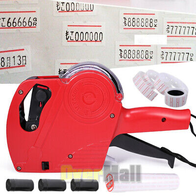Mx-5500 8 Digits Price Tag Gun With 5000 Sticker Labels3 Ink Refill Label Maker