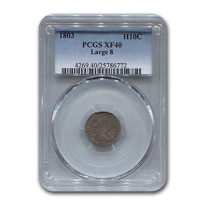 1803 Draped Bust Half Dime XF-40 PCGS (Large 8)