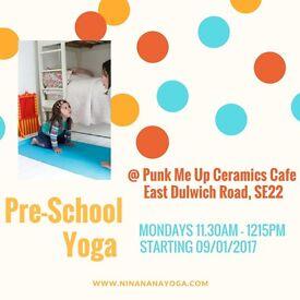 Pre-School Yoga Classes in South East London