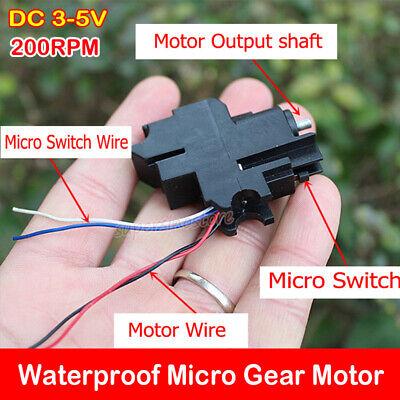 Waterproof Micro Gear Motor Dc 3v-5v 3.7v Small Mini Metal Gearbox Reducer Diy