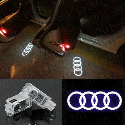 4x LED Rings Projector Logo Door Light Bulbs For AUDI A4-A5 A6 A7 A8 A3 Q7 Q3 Q5