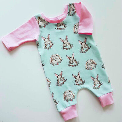 US Newborn Easter Bunny Baby Girls Animal Romper Bodysuit Playsuit Kids Outfit