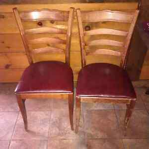 Solid Maple restaurant chairs