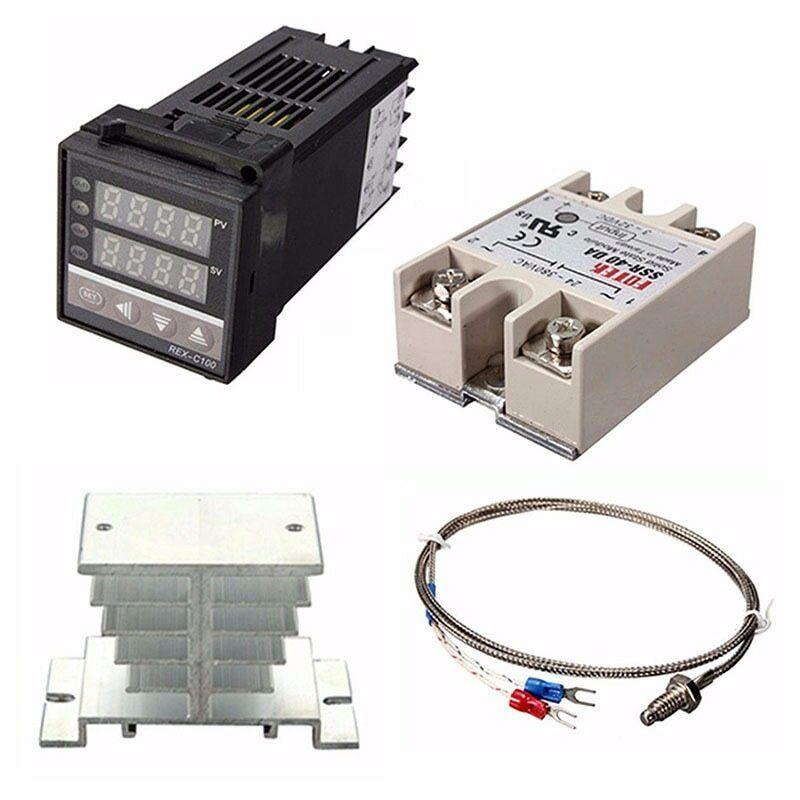 Digital Adjustable PID Temperature Controller Panel Thermostat REX-C100 Kits