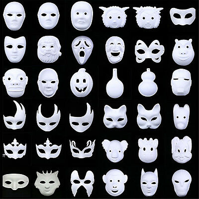 WHITE MASK PLAIN MASKS FANCY DRESS MASQUERADE PARTY Halloween DECORATATION BEST