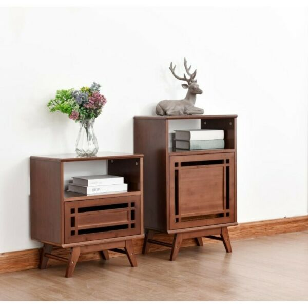 TVST001 TV Side Tables w Drawers, Bed Side Tables